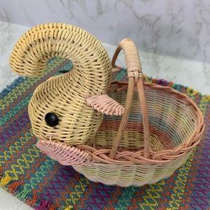 Vintage Elephant Boho Basket Floral Baby Gift
